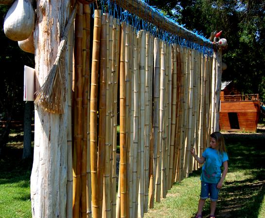 Giant bamboo xylophone amazing farm fun ticonderoga